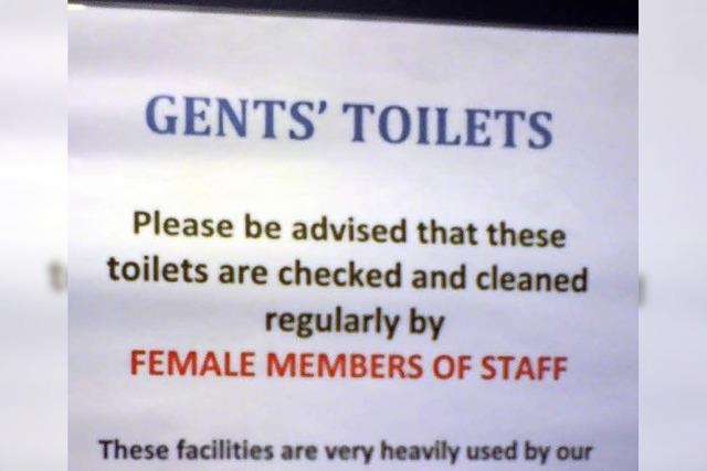 MÜNSTERECK: Hinweis für die Gentlemen