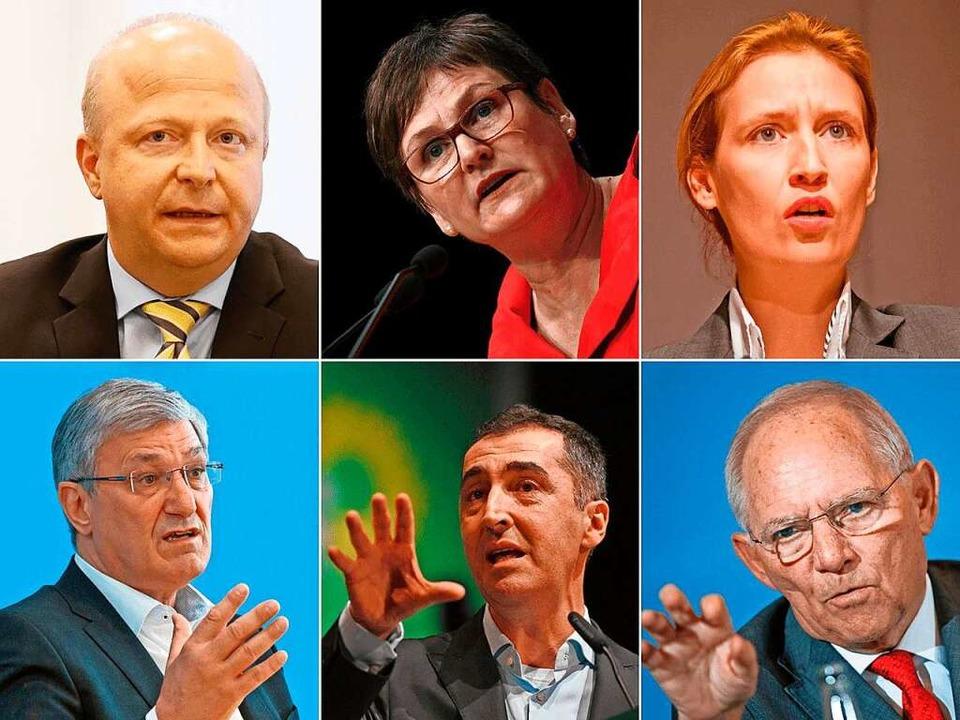 Die Gäste beim BZ-Wahltag: Michael The...r (Grüne) und Wolfgang Schäuble (CDU).    Foto: bz