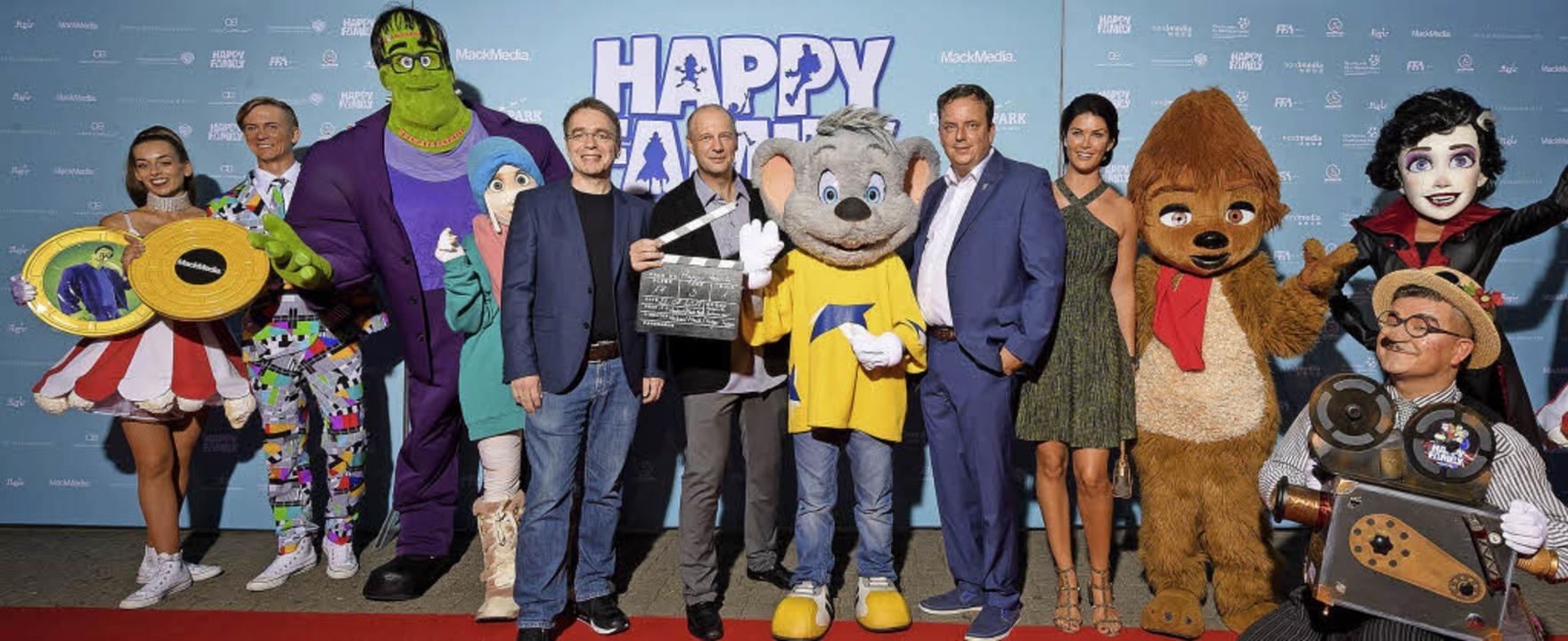 """Die """"Happy Family""""- Figure...her bei der Aufführung im Europa-Park     Foto: Europa-Park"""