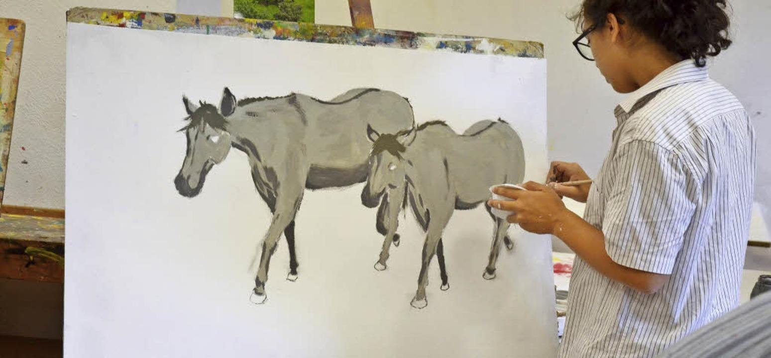 Der Kurs Malen und Zeichnen:  Hier entdecken viel junge Leute ihr Talent.    Foto: Heinrich Bröckelmann