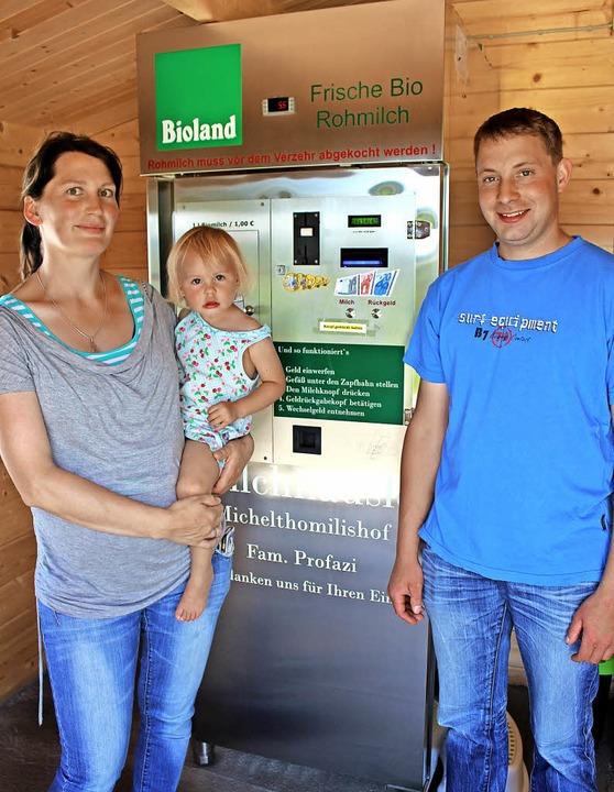 Setzen auf eine neue Geschäftsidee: So...or dem Milchzapfautomat. Dieter Maurer    Foto: Dieter Maurer
