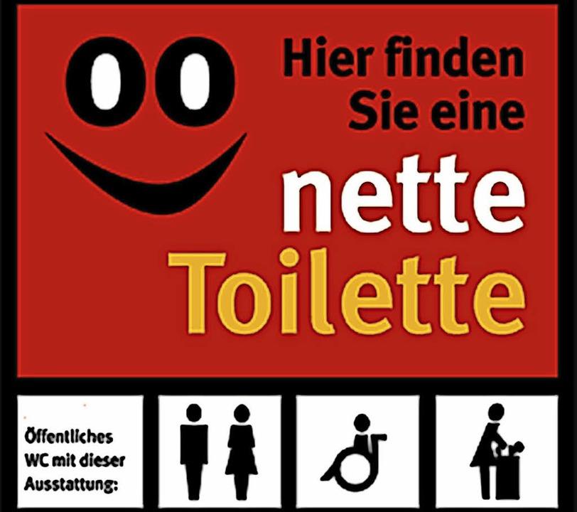 "Hinweis auf ""Nette Toilette""     | Foto: Privat"