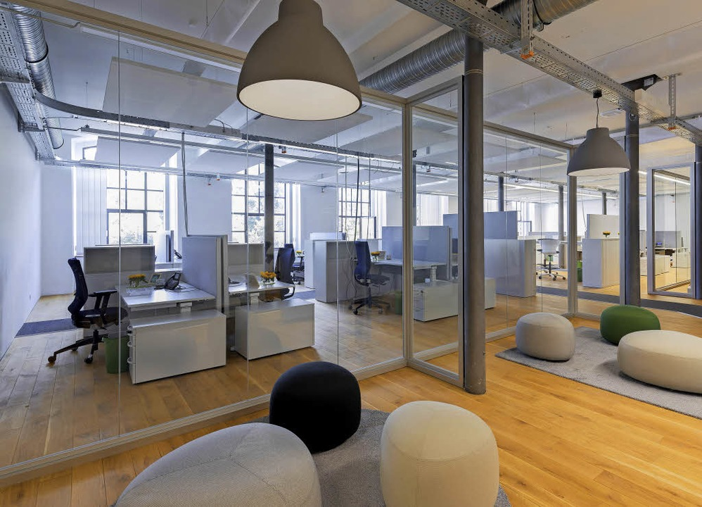 Der neue Innenraum - als Open-Space-Landschaft konzipiert   | Foto: sick ag
