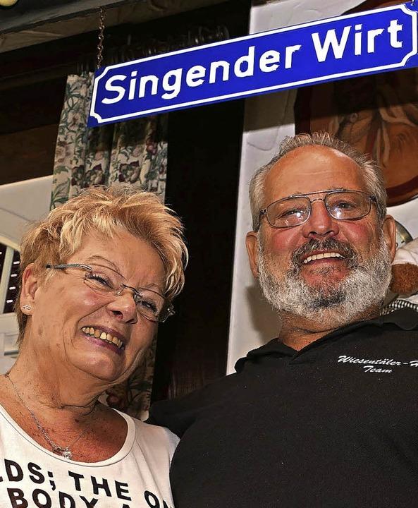 Das Wirtepaar Karin und Dieter Philipp  | Foto: Peter Gerigk