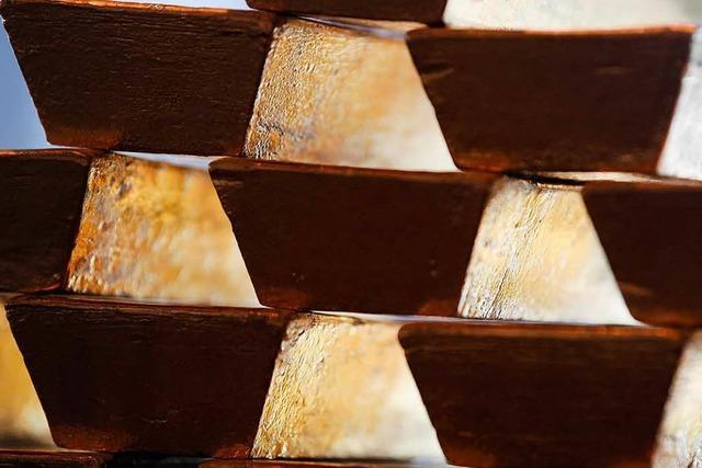 Die Hälfte des deutschen Goldschatzes ist daheim