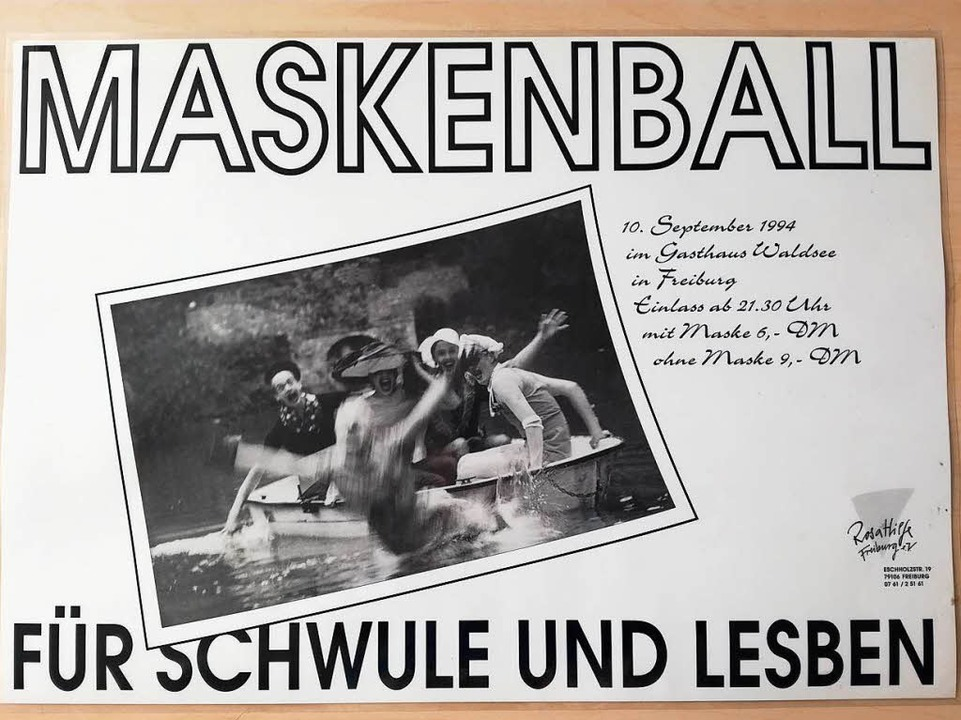 Plakat einer Waldsee-Party 1994  | Foto: SchwuLesDance Archiv