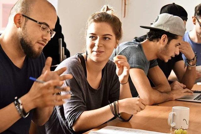 Beim deutsch-arabischen Sprachcafé profitieren alle Beteiligten