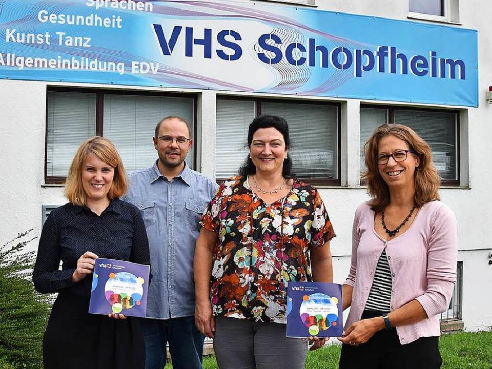 Stellen das  Programm vor:  Katrin Nui...esundheit) und Ruth Simons (Sprachen).  | Foto: Katharina Maß