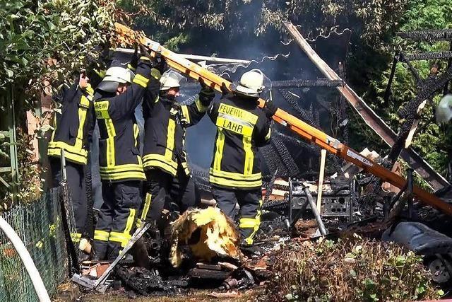 50000 Euro Schaden bei Scheunenbrand in Kuhbach