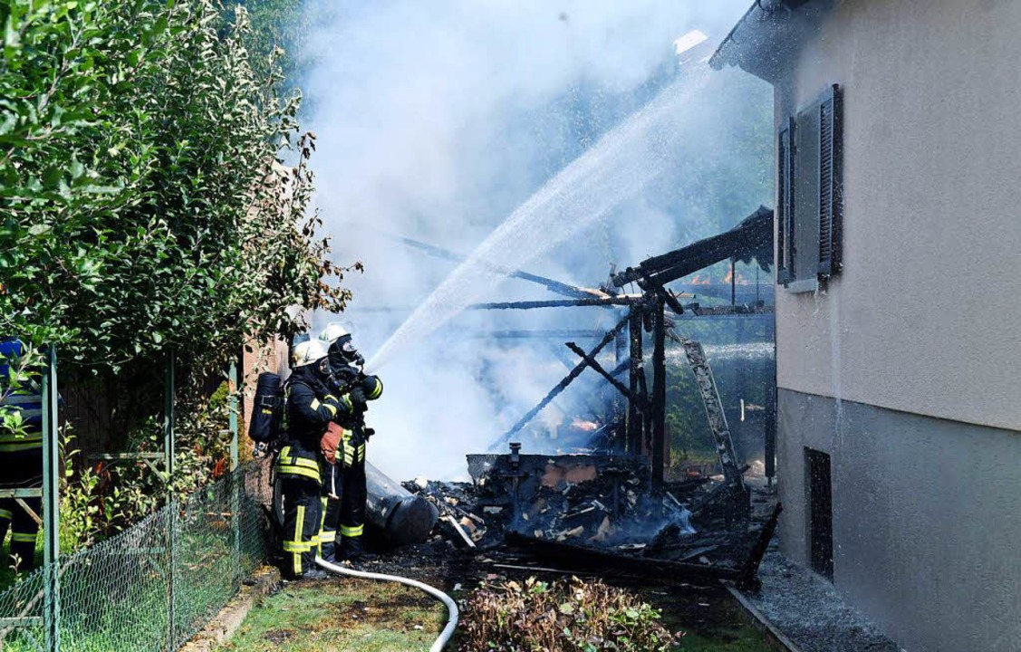 Einsatz für die Feuerwehr  | Foto: Wolfgang Künstle
