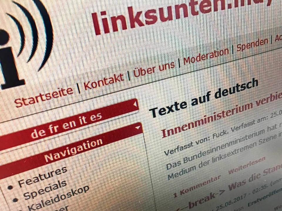 linksunten.indymedia.org war am Freitagmorgen zuerst noch erreichbar  | Foto: Screenshot