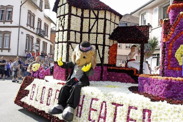 Blumenkorso beim Zuckerfestival Erstein