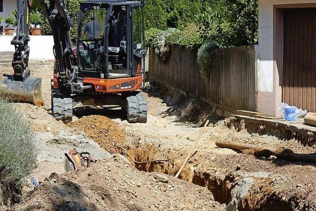 Untere Allmend- Straße im Bau