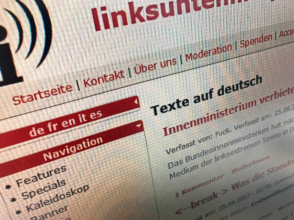 """linksunten.indymedia"" meldet sich zurück.  | Foto: Screenshot"
