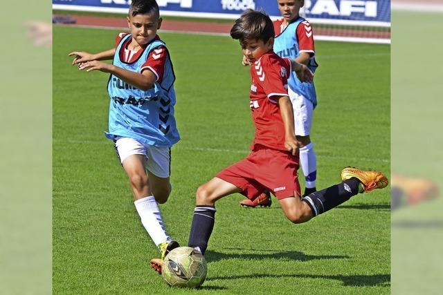 Fußballtraining beim SC Freiburg gewinnen