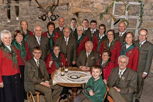 Markgräfler Jagdhornbläser feiern in Badenweiler