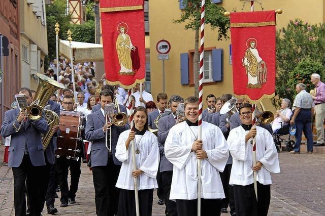 Prozession zu Ehren des Patrons
