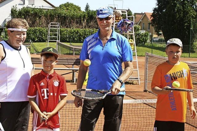 Tennisclub ist in Sachen Nachwuchswerbung am Ball