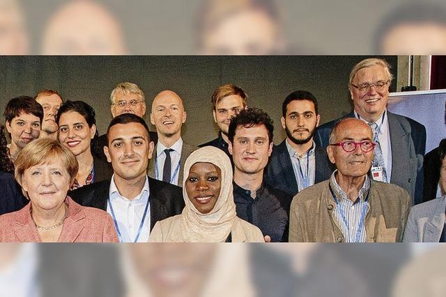 Universität für Flüchtlinge beeindruckt Kanzlerin