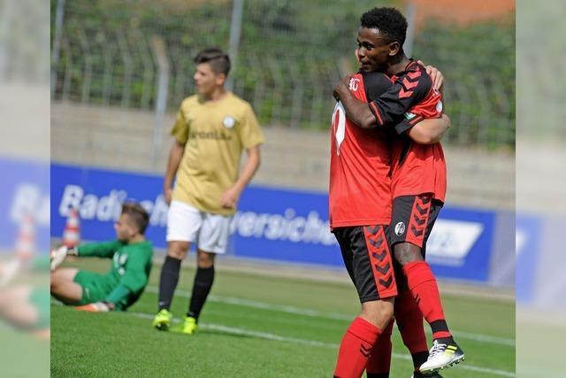 Erster Sieg für die U 17 des SC Freiburg