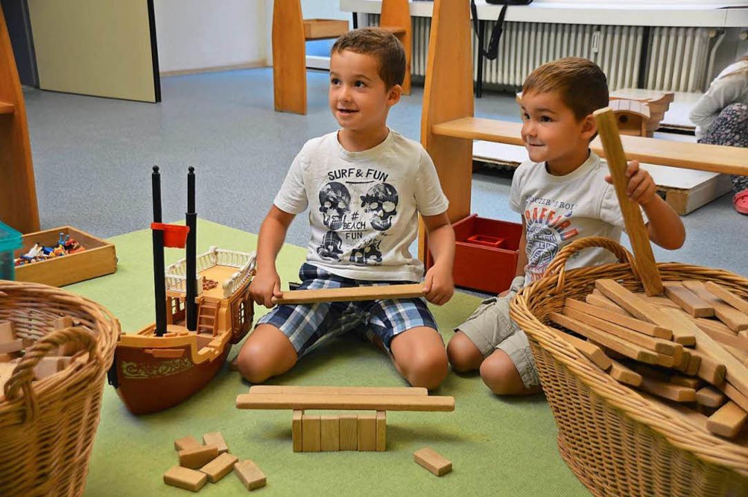 In der Kita St. Josef können die Kinde...ieses halboffene Konzept kommt gut an.  | Foto: Horatio Gollin