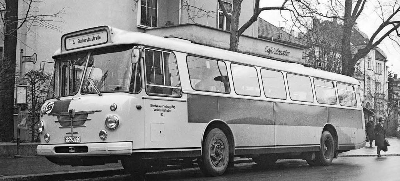Das vermutlich in den 1960er Jahren en...ße, an der Ecke zur Günterstalstraße.   | Foto: Sammlung Hettinger/Kaufhold
