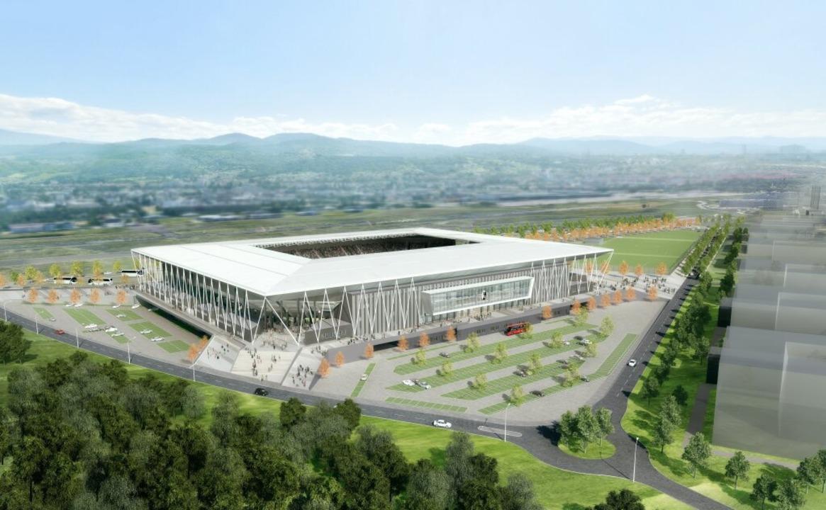 So soll das neue Stadion des SC Freiburg aussehen  | Foto: HPP Architekten/WillMore