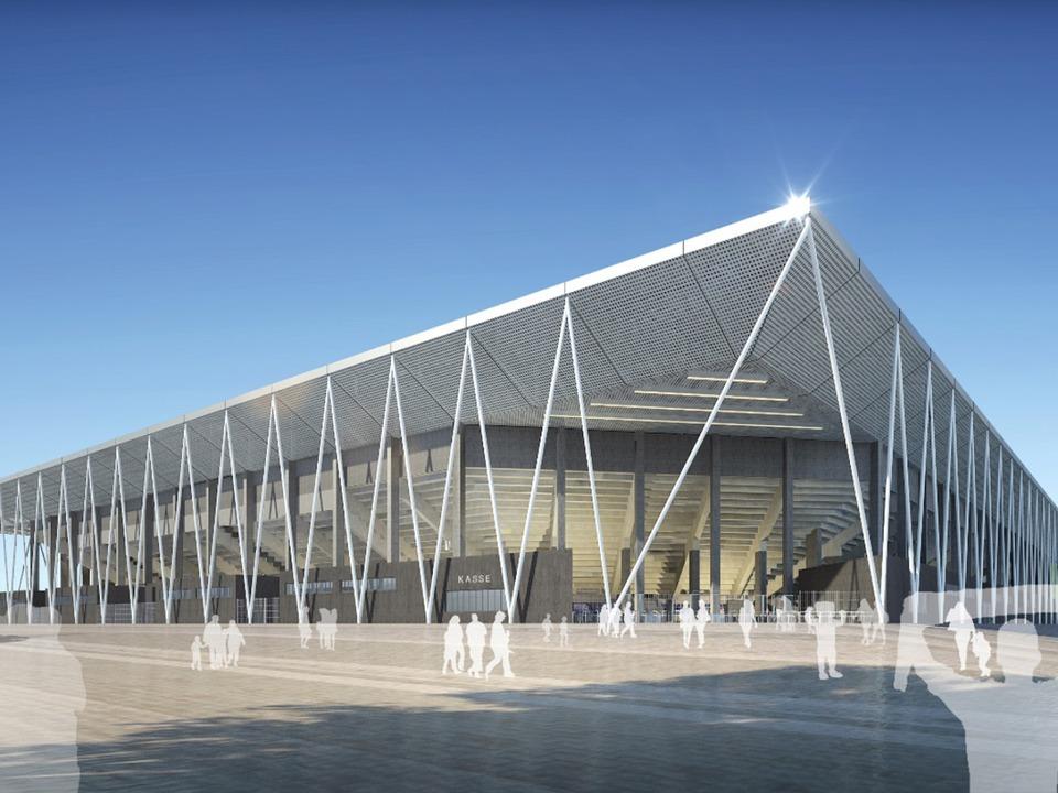 So soll das neue Stadion des SC Freiburg aussehen  | Foto: dpa