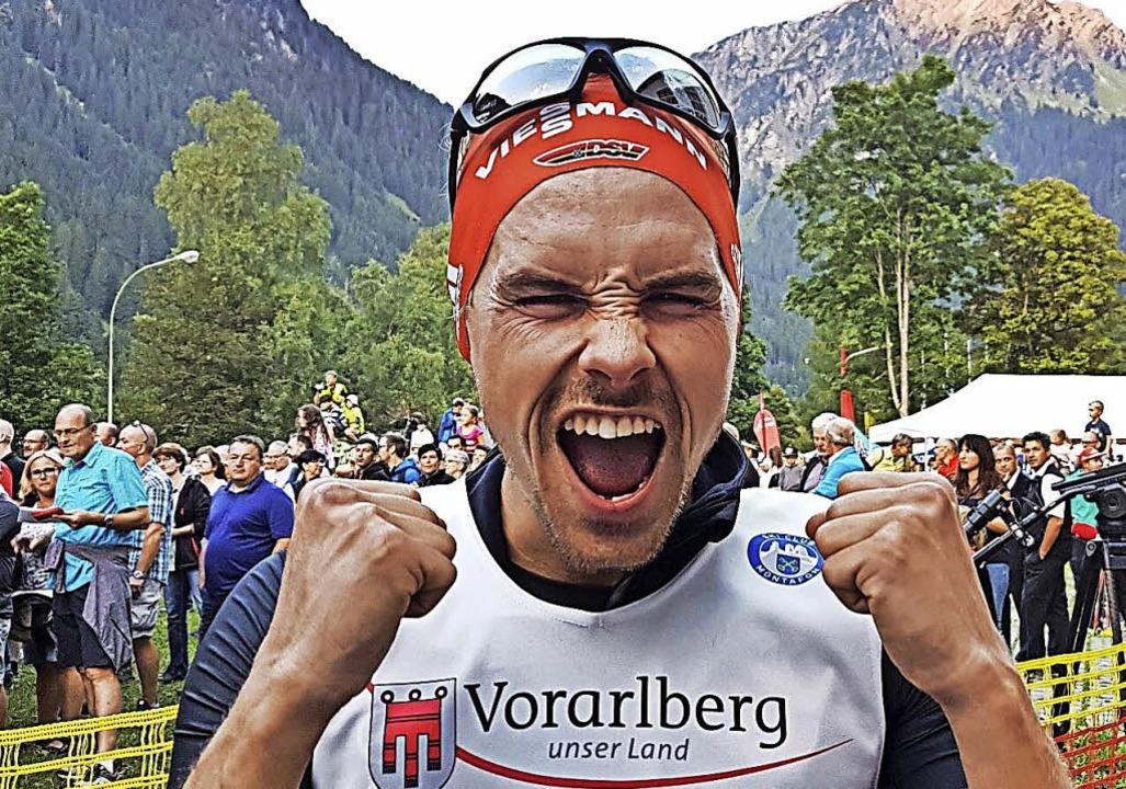 Triumph-Jodler: Beim Sommer-Grandprix ...ian Rießle  seinen ersten Saisonsieg.   | Foto: zvg