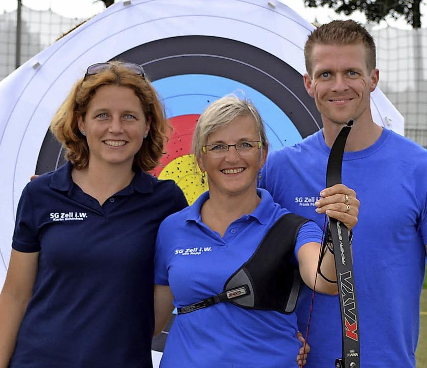 Team auf Erfolgskurs: Betreuerin Karin...zin Ute Rapp und Trainer Frank Päßler   | Foto: SG Zell