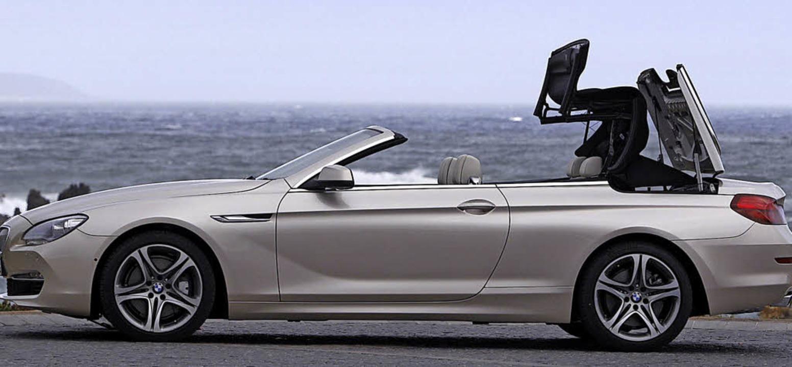 Vor dem Start in die neue Cabrio-Saiso...man das Stoffdach noch einmal reinigen    Foto: BMW/SP-X