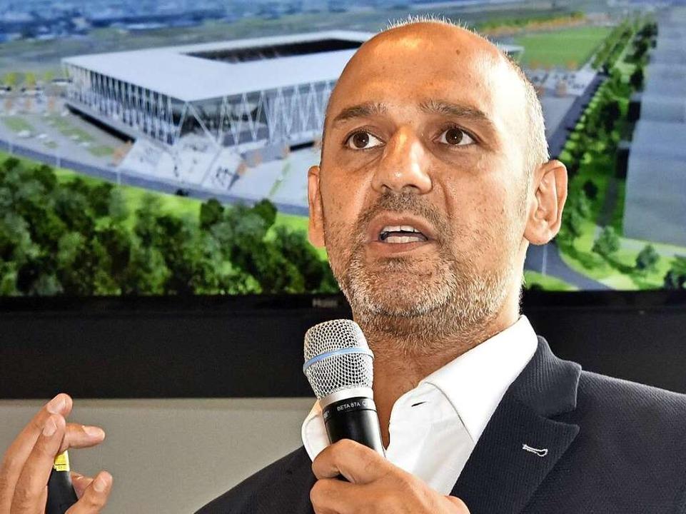 Stadionarchitekt Antonino Vultaggio: \