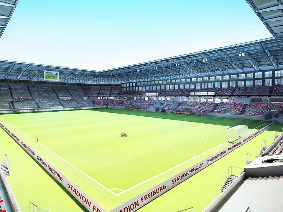 Modell des geplanten SC-Stadions  | Foto: HPP WillMore