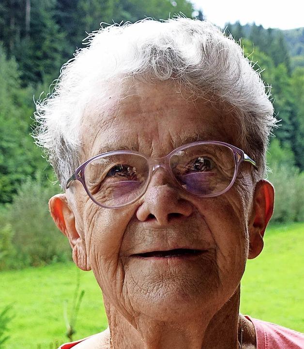 Frieda Zimmermann wird am heutogen Samstag 90 Jahre alt.    Foto: Jürgen Schneider