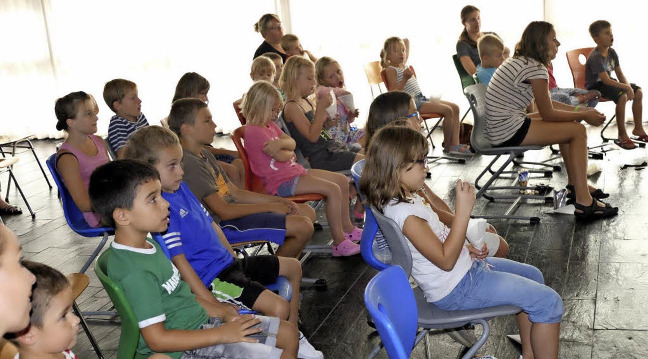 """Gut 20 Kinder besuchten  im Rahmen des...2;König der Löwen"""" organisiert.     Foto: Dietmar Noeske"""