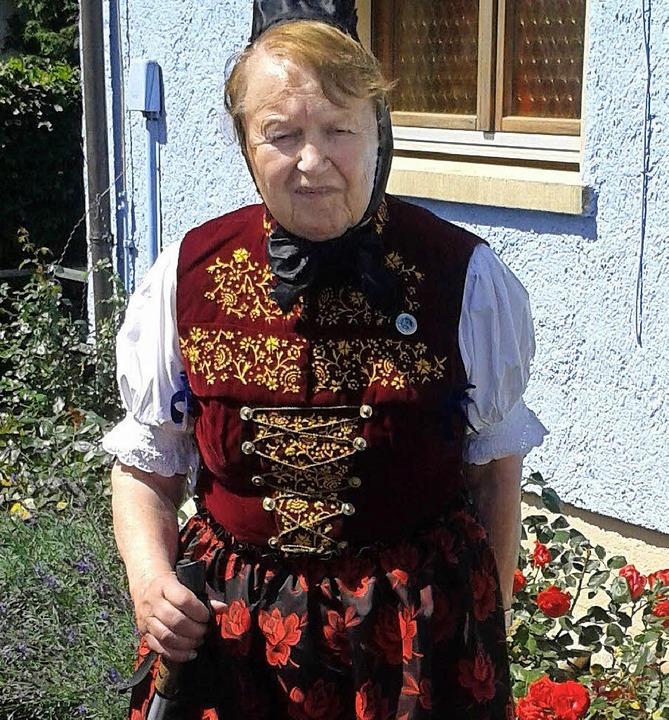 Ingrid Dreher, Gründungsmitglied des Heimat- und Trachtenvereins Bonndorf.   | Foto: Ch. Müller-Dreher