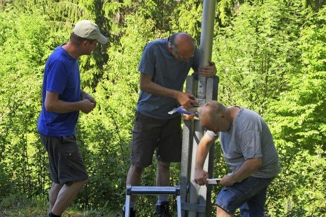 Fahnenmast beim Rütte-Pavillon ausgetauscht