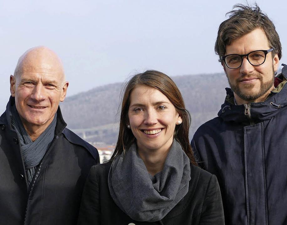 Lukas Zahner (links), Katharina Endes und Lars Donath von der Uni Basel  | Foto: Peter Gerigk