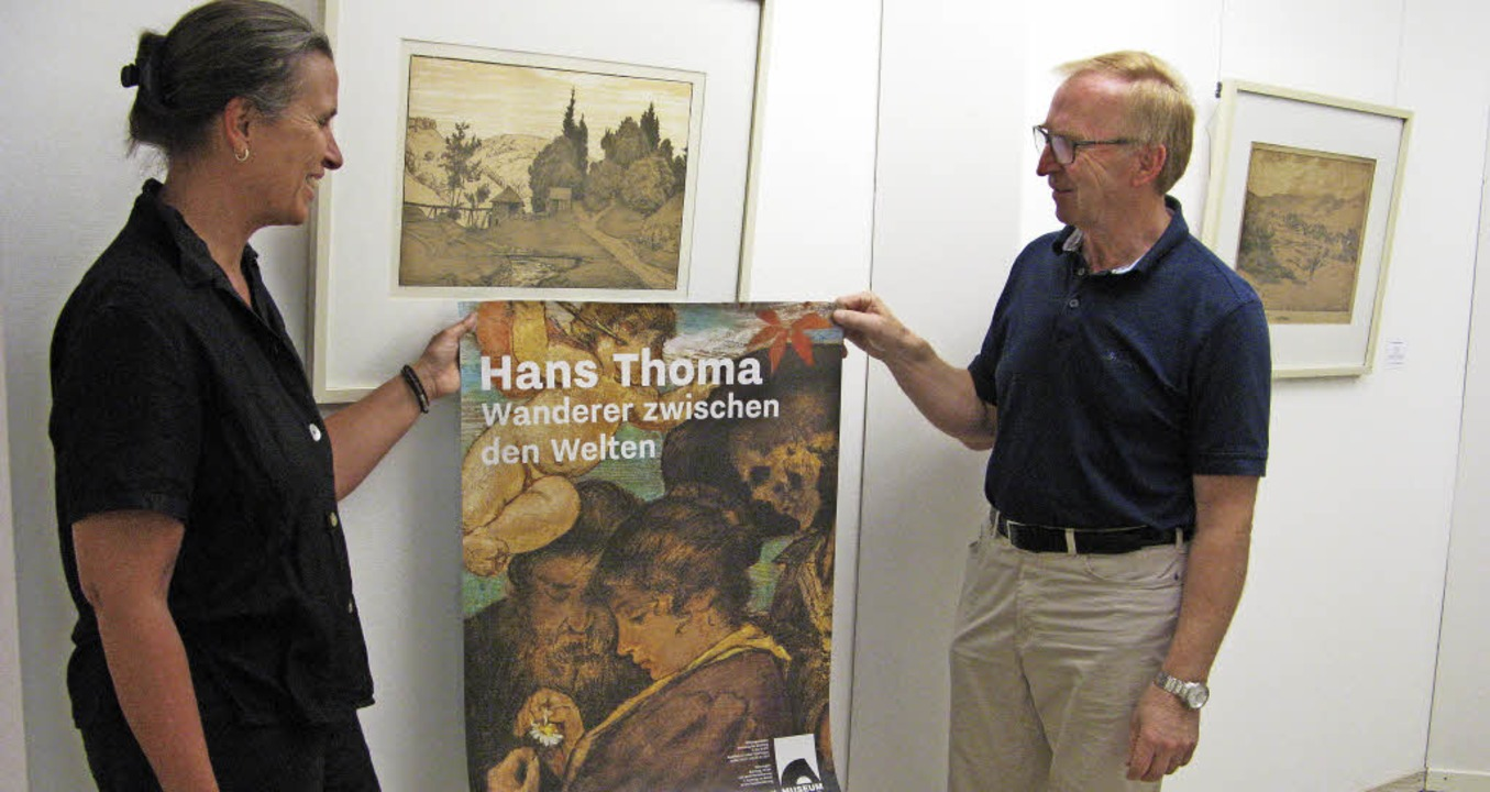 Für eine Thoma-Ausstellung in Baden-Ba...nige der nun gezeigten Druckgrafiken.   | Foto: Ulrike Spiegelhalter