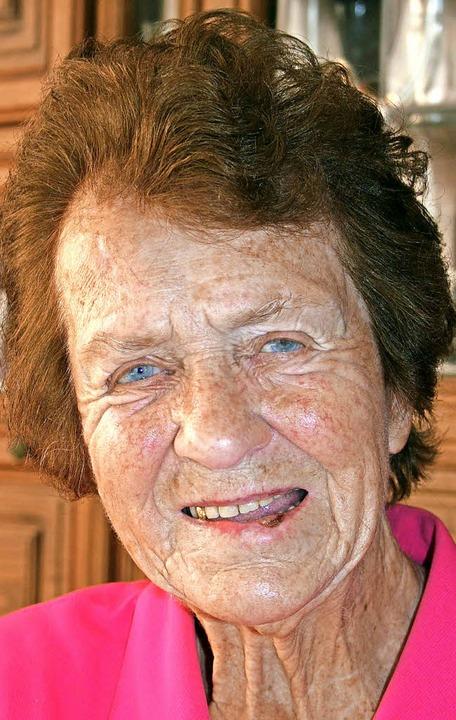 Erika Mogel feiert  heute ihren 90. Geburtstag.     Foto: Lacher