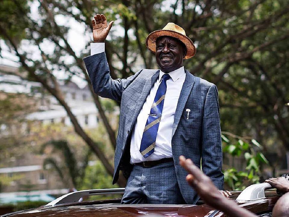 Oppositionschef Odinga spricht von einem wegweisenden Urteil.    Foto: dpa