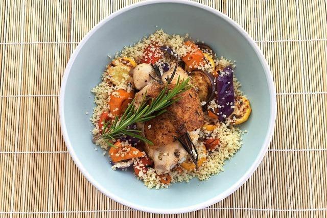 Kräuterhähnchen mit Gemüse und Couscous