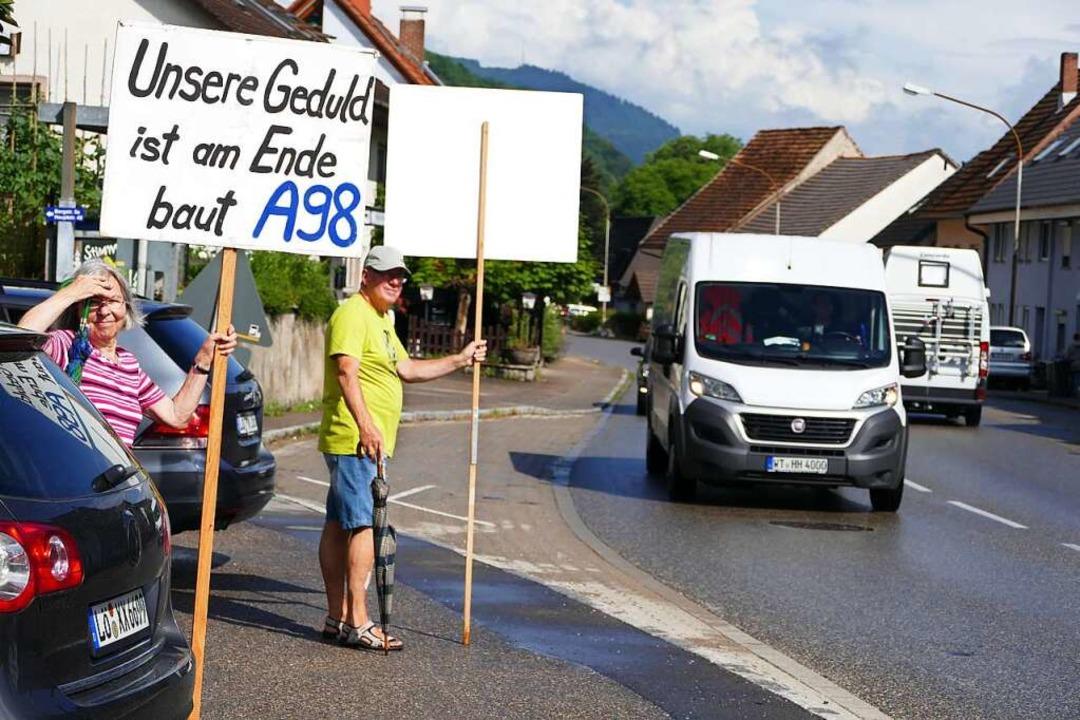 Die A98 soll weitergebaut werden. Aber auf welcher Trasse?  | Foto: Ingrid Böhm-Jacob