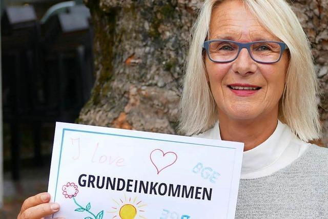 Uschi Bauer aus Lörrach ist Spitzenkandidatin der Grundeinkommenspartei