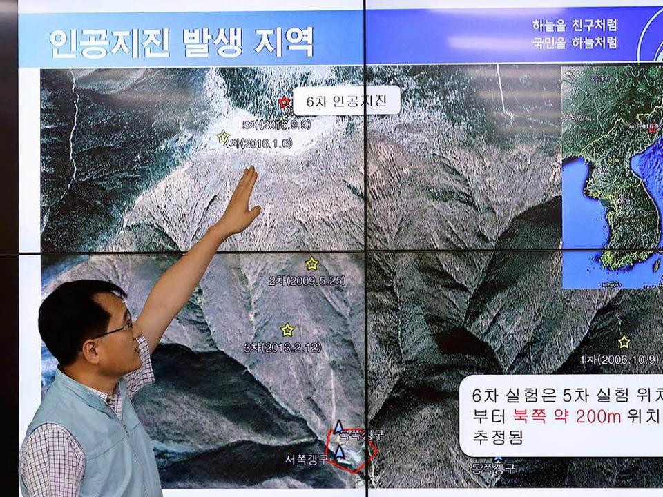 Ryoo Yong-gyu, der Leiter der südkorea...rdbeben in Nordkorea ausgelöst wurden.  | Foto: dpa