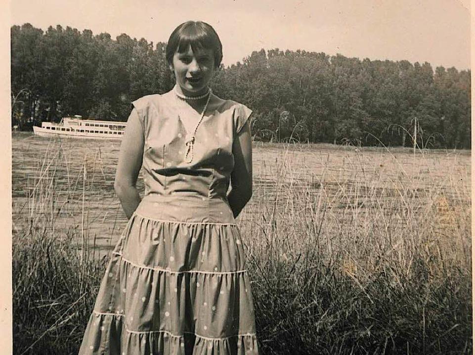 Agnes Hauser 1954 kurz vor ihrer Auswanderung in die Schweiz    Foto: © A. Hauser