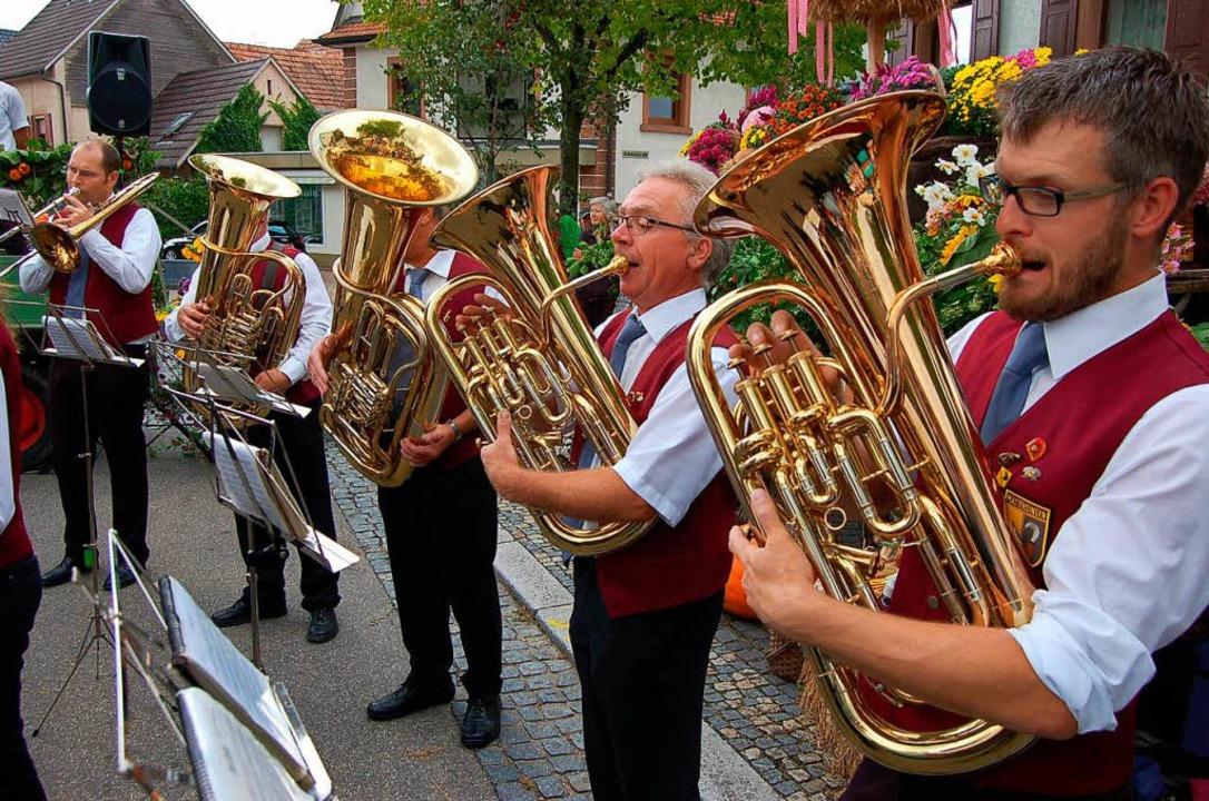 Der Musikverein sorgte für Unterhaltung.    Foto: Christian Ringwald