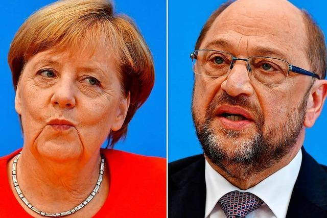 Das TV-Duell Merkel vs. Schulz im Liveblog