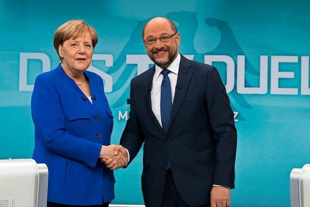 Schulz schaltet im TV-Duell auf Angriff - Kanzlerin rechtfertigt sich