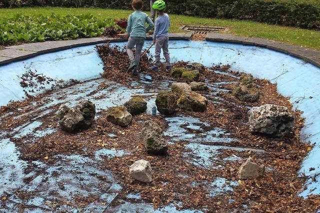 Brunnen im Läublinpark erstrahlt in neuem Glanz